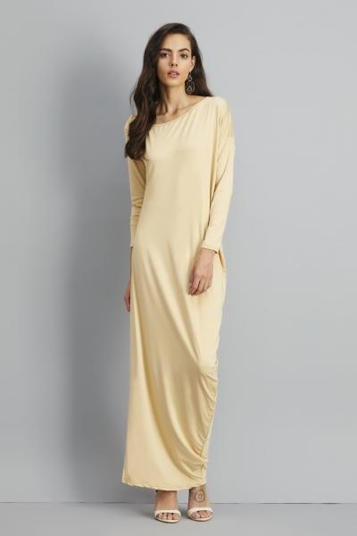 One Shoulder Ruffled Slit Maxi Dress STYLESIMO.com