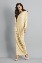 One Shoulder Ruffled Slit Maxi Dress