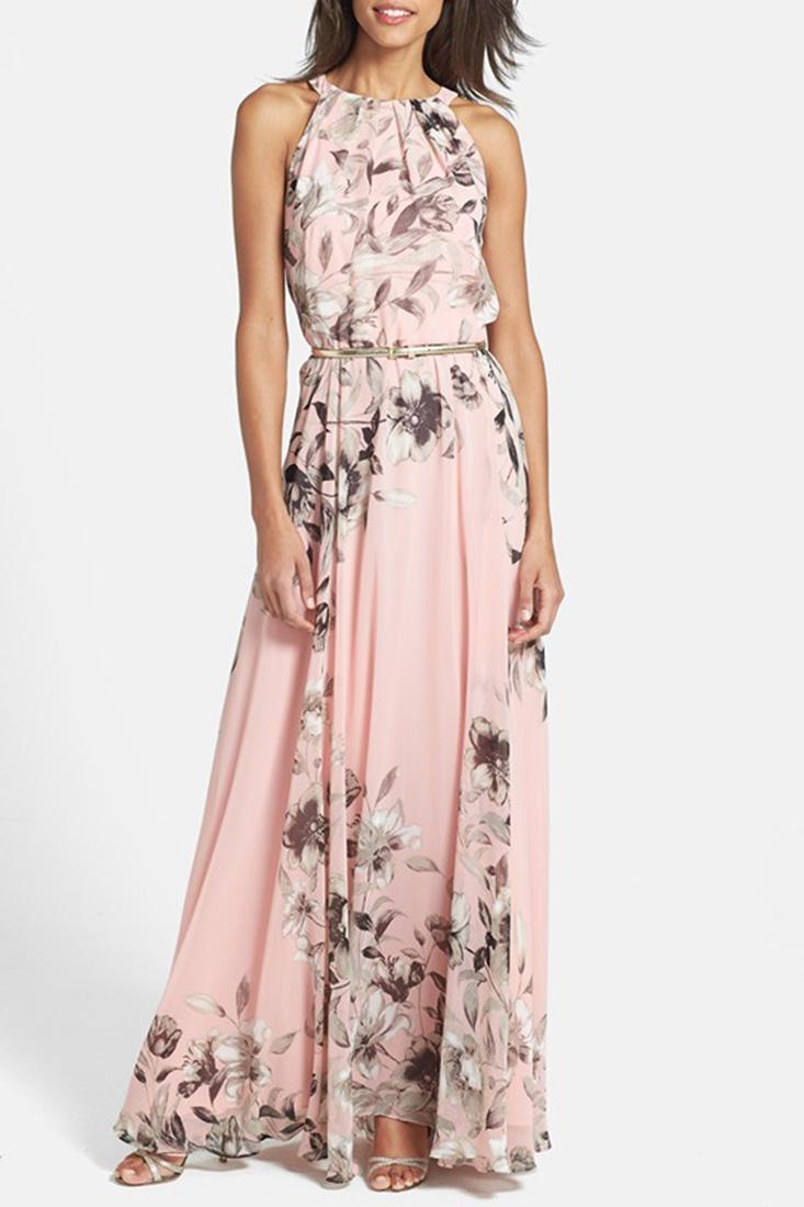 6c79bb3eaeaaad Charming Floral Printed Sleeveless Maxi Dress STYLESIMO.com. Loading zoom