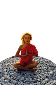 Beautiful Round Mandala Roundie Yoga Mat