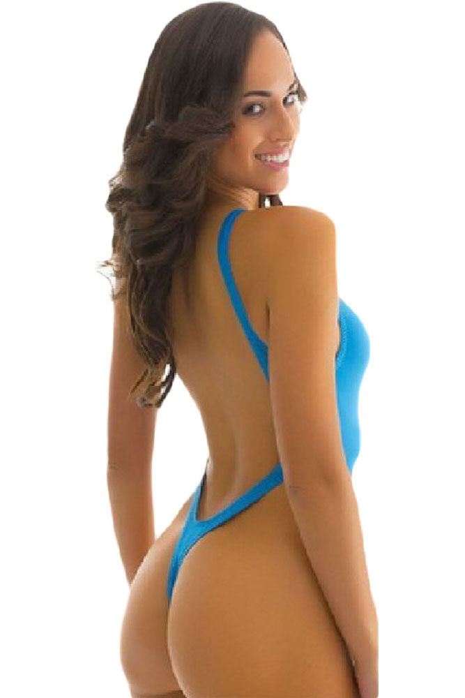 aa14c80576 Sexy High Cut Thong One-piece Swimsuit
