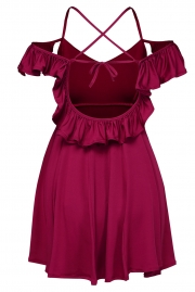 Sweet Sexy Wine Backless Skater Dress