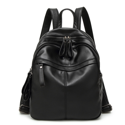 Women's PU Leather School Backpack