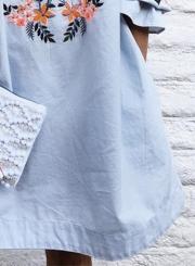 Women's Fashion Floral Prined off Shoulder Long Sleeve Mini Dress