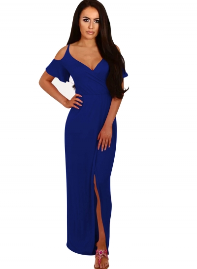 Women's Spaghetti Strap Off Shoulder Dress
