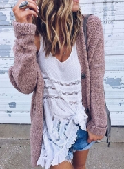 ... Women s Fashion Long Sleeve Open front Loose Fit Solid Cardigan ... 580dcd045
