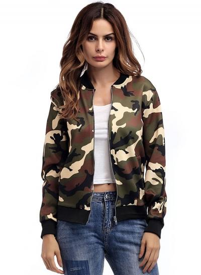 940a04ee53a1e Women's Fashion Casual Long Sleeve Zip Up Camouflage Jacket stylesimo.com