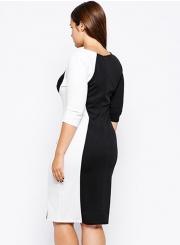 062bdfa935e ... STYLESIMO.com. Loading zoom. Women s Fashion Plus Size Color Block  Bodycon Dress  Women s Fashion Plus Size Color Block Bodycon Dress ...