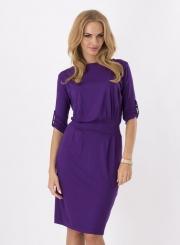 Women's Solid Round Neck Half Sleeve Bodycon Dress