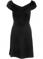 Women's Fashion Solid V Neck Sleeveless A-line Club Dress