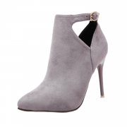 Women's Hollow out Pointed Toe Stiletto Heels Boots