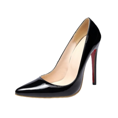 Women's Fashion High Heels Solid Pointed Toe Pumps STYLESIMO.com