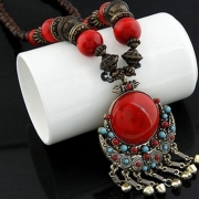 Women's Fashion Bohemian Beads Pendant Necklace