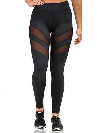 Women's Dri-Fit Mesh Panel Sports Ankle Leggings