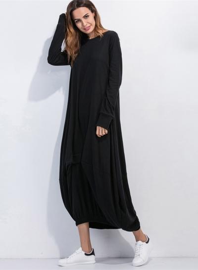 020c8dbca888 Women's Long Sleeve Loose Fit Solid Maxi Dress - STYLESIMO.com