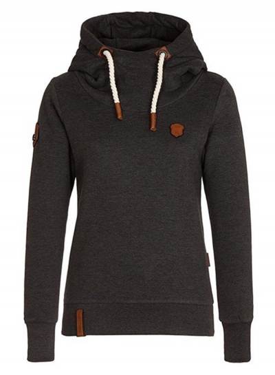 Women's Long Sleeve Pullover Fleece Drawstring Hoodie STYLESIMO.com