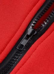 Women's Casual Long Sleeve Zipper Solid Hoddies
