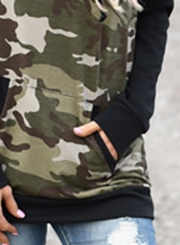 Women's Casual Long Sleeve Camouflage Printed Hoodies