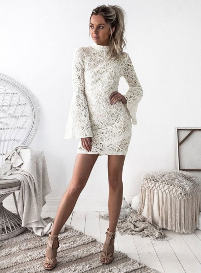 Women's Lace Bodycon Mini Party Dress