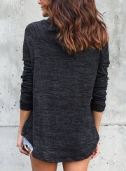 Women's Fashion Drawstring High Neck Long Sleeve Pullover Sweater