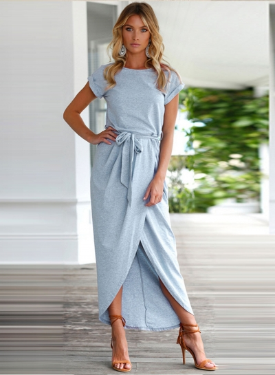 Maxi Dress with Sleeves