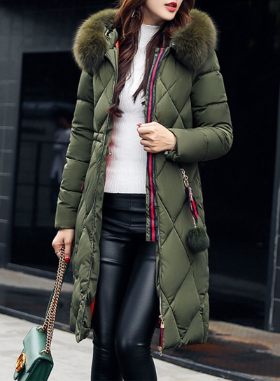 Faux Fur Tim Hooded Down Coat