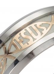 Titanium Steel Fluorescent JESUS Ring