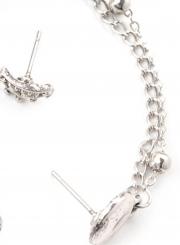 Fashion 4 pieces Water Drop Chain Earrings