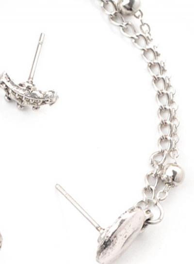 Fashion 4 pieces Water Drop Chain Earrings stylesimo.com