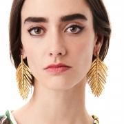 Fashion Leaf Shape Solid Color Earrings
