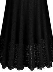 Elegant V Neck 3/4 Sleeve Lace Panel Maxi Prom Dress
