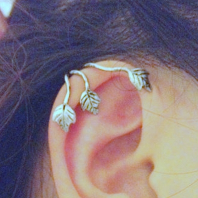 Fashion Alloy Leaves Shape Casual Earrings