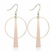 Fashion Novelty Alloy Circle Round Earrings