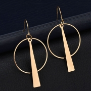 Fashion Novelty Alloy Circle Round Earrings