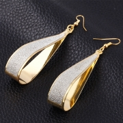 Fashion Sequins Decoration Solid Color Drop Earrings