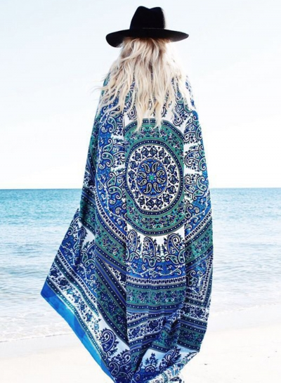 Fashion Chiffon Cover up Square Beach Towel