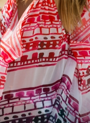 deeb08b76bfbed Printed V Neck Sleeveless Cover-up Beachwear Dress - STYLESIMO.com