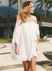 Off Shoulder Loose Fit Beach Dress