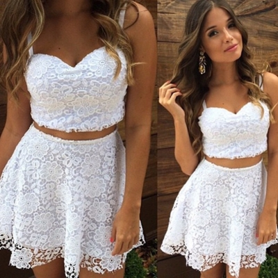 2 Piece Lace Skirt Set