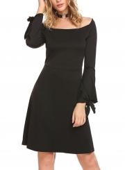 Fashion Long Sleeve Knee Length Dress