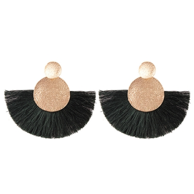 Fashion Tassels Decoration Solid Color Party Earrings stylesimo.com