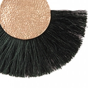 Fashion Tassels Decoration Solid Color Party Earrings