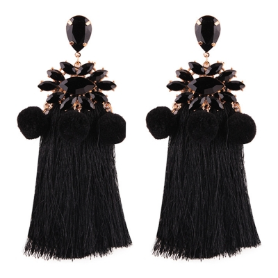 Elegant Tassels Decoration Krystal Party Earrings