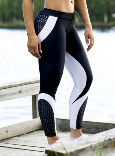 Fashion Color Block Yoga Sports Leggings