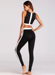 48d93e8dd07e Fashion Two Piece Activewear Skinny Sports Set - STYLESIMO.com