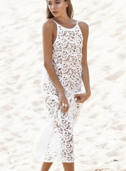 Hollow out Bikini Cover-up Dress