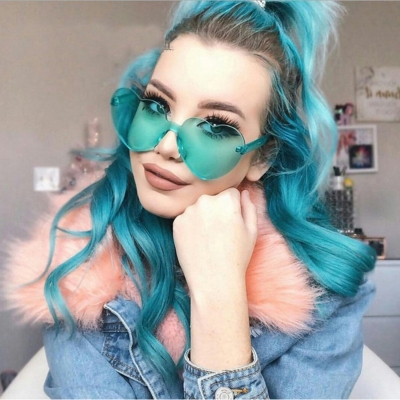 Fashion Love Cute Heart Shape Sunglasses