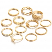 Women's Fashion Alloy Multiple Sets Of Rings