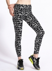 High Waist Polka Dot Yoga Leggings