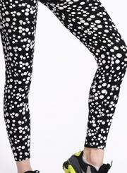 High Waist Polka Dot Yoga Leggings
